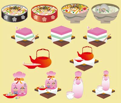 Hinamatsuri的食物集
