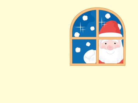 Santa Claus outside the window