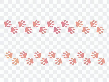 Yume可愛的足跡線粉紅色