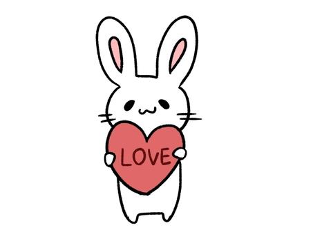 有愛心的兔子