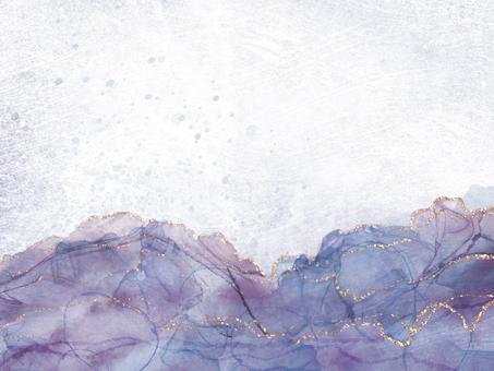 秋季和冬季酒精墨水背景框架,紫色
