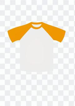 T卹(白色和橙色)