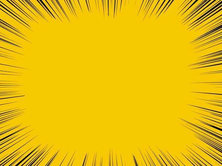 集中線(黄色)