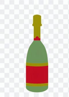Bottle (red green)