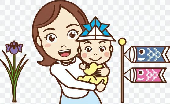 媽媽舉行的嬰兒/兒童節