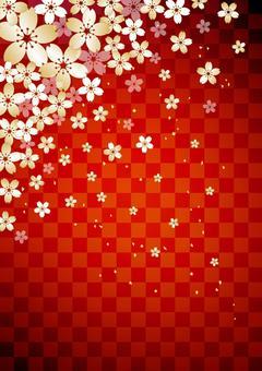 Cherry tree _ lattice _ red _ longitudinal background