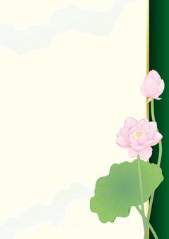 Lotus flower _ Paper vertical plate _ green