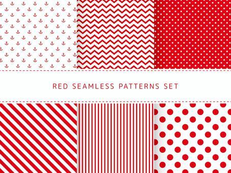 紅色無縫模式集