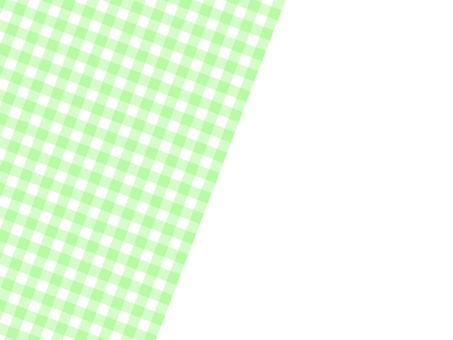 대각선 하프 깅엄 체크 배경 : 연두색