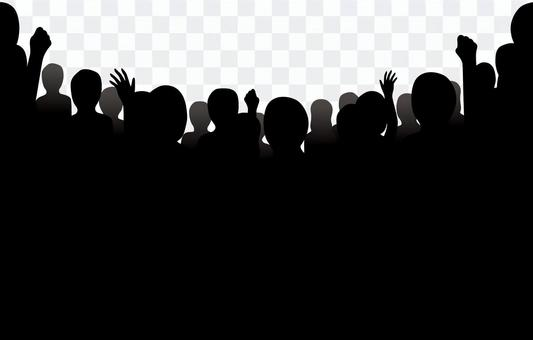 Audience silhouette 1