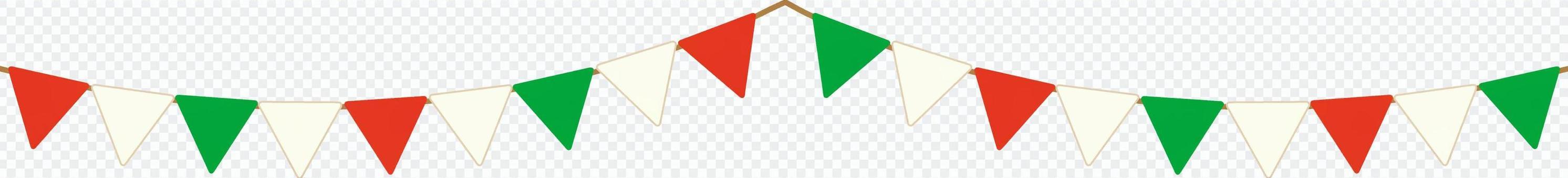 花環框架(紅色x綠色x白色)