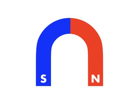 Flat U-shaped magnet icon B