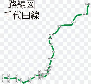 千代田線路線図-リアル