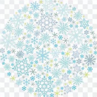 Snow Crystal Round