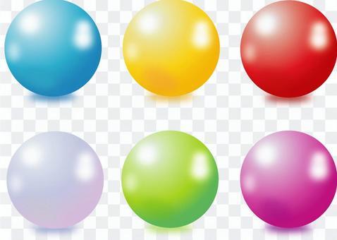 ボール つやのある球体