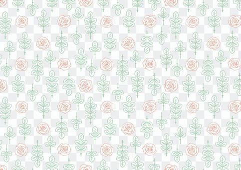 玫瑰無縫圖案色板
