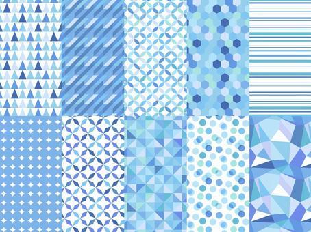 一組幾何圖案/藍色