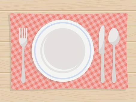 Empty dishes and cutlery