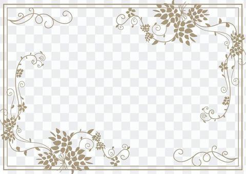 手繪的花框架