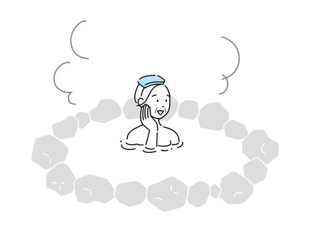 外婆泡溫泉露天浴