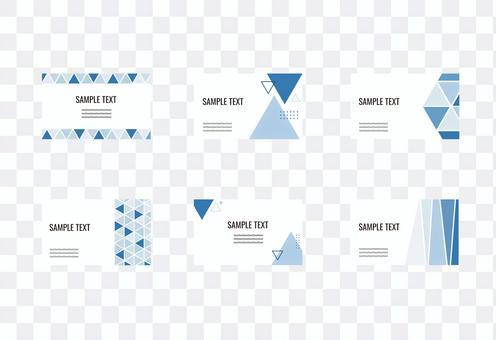 Geometric pattern blue business card message card