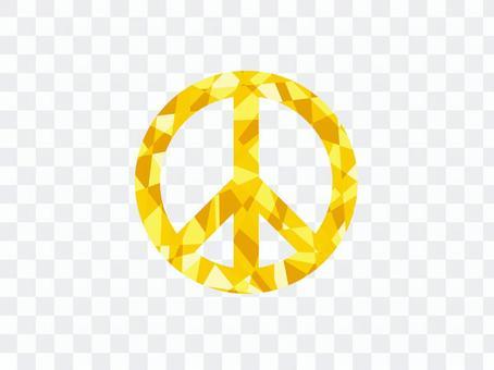 金色和平象徵水晶和平
