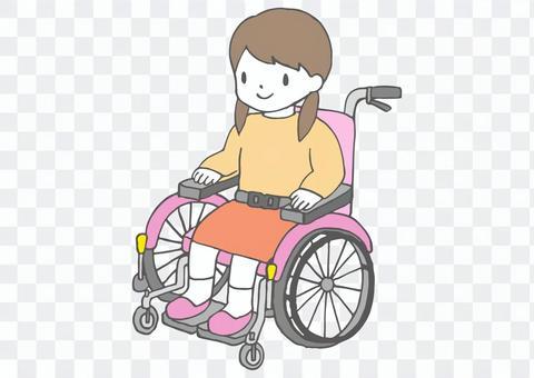 子ども用車椅子のイラスト2