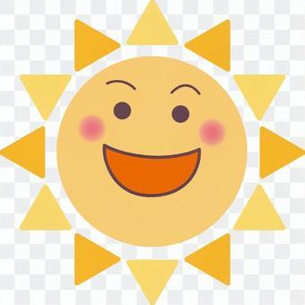 陽光燦爛的夏天暑假的微笑