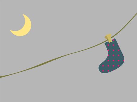 月亮和放大器;袜子