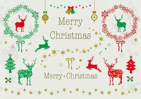各種馴鹿的聖誕節材料