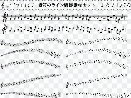 音符線描音樂單色圖標符號