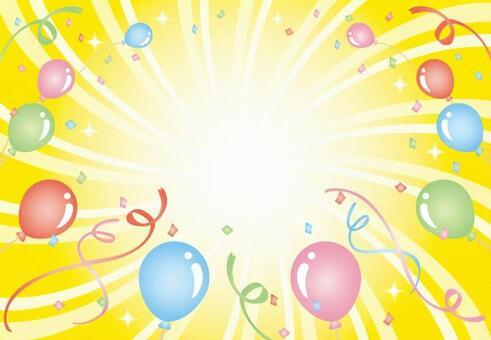 用氣球和五彩紙屑流行背景