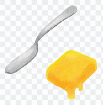 Butter and butter knife