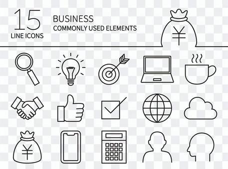 常用的業務圖標1