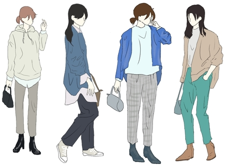 Boyish women's fashion handsome