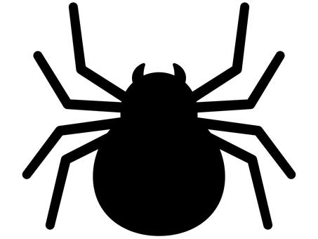Black spider silhouette icon