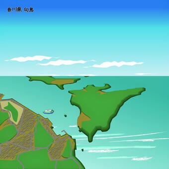香川縣幕古島市海上