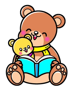 Bear parent and child storytelling
