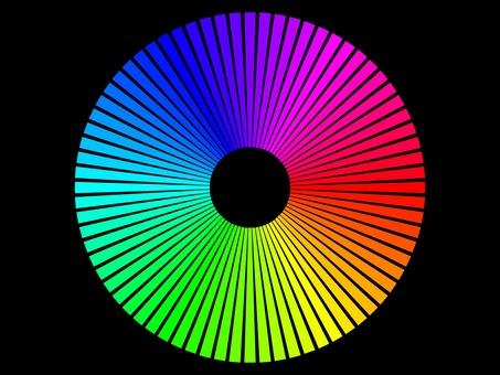 扇形色調層次排列成圓形