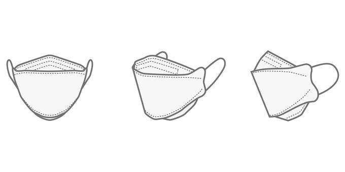 3D 3D mask 3-way set