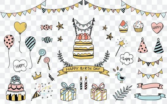 Birthday illustration 4