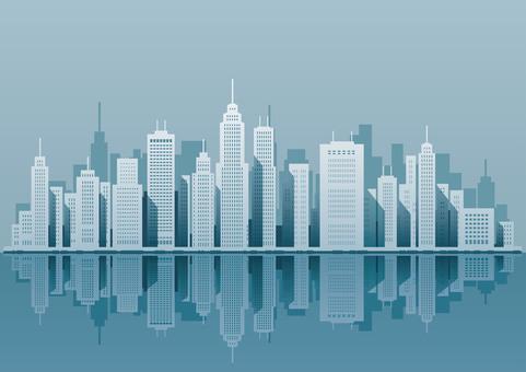 Illustration of a big city