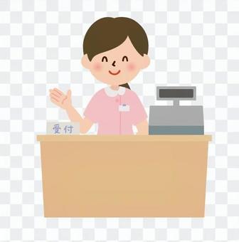 医療-案内する受付の医療事務員(会計)