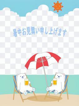 夏季同情北極熊
