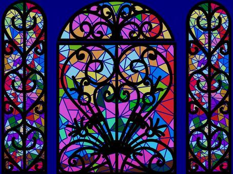 彩繪玻璃門