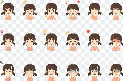 B128_女の子表情セット