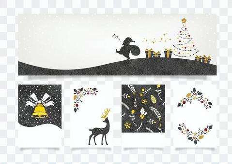 冬季背景框架064聖誕賀卡