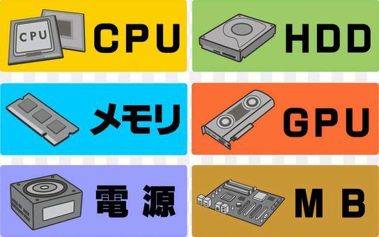 電腦零件插圖