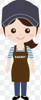 人職業製服(女)麵包店