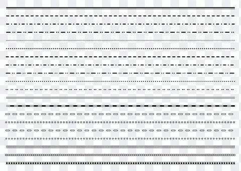 10 線 / 裝飾格子集 1 單色